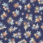 Little Minimalistic Flowers Seamless Vector Pattern Design