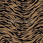 Tigerwelle Nahtloses Vektormuster