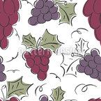 Uvas en movimiento Estampado Vectorial Sin Costura
