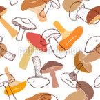 Variación de hongos Estampado Vectorial Sin Costura