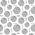 Embellished Spheres And Lines Seamless Vector Pattern Design