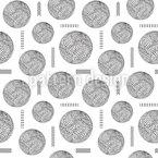 Esferas y líneas embellecidas Estampado Vectorial Sin Costura