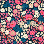Warm Flower Mix Seamless Vector Pattern Design