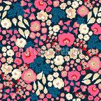 Warmer Blumen-Mix Nahtloses Vektormuster