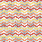 Zigzag On Dots Seamless Vector Pattern Design