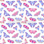 Aesthetic Butterflies Seamless Vector Pattern Design