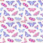 Ästhetische Schmetterlinge Nahtloses Vektormuster