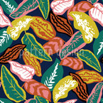 Colorful Bright Leaves Seamless Vector Pattern Design