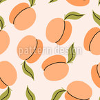 Apricots With Leaves Repeating Pattern