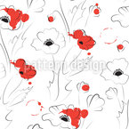 Abstract Poppy Seamless Vector Pattern Design