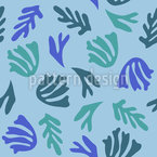 Pflanzen Unter Wasser Nahtloses Vektormuster