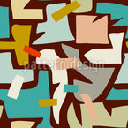 Abstraktes Flickwerk Nahtloses Vektormuster