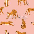 Süße Geparden Nahtloses Vektormuster