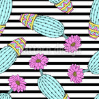 Cactuses Seamless Vector Pattern Design