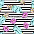Cactus Estampado Vectorial Sin Costura