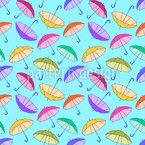 Umbrellas In The Wind Seamless Vector Pattern Design