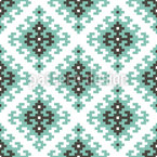 Ethnic Pixel Composition Seamless Pattern