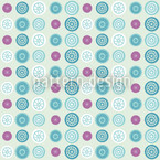 Wheel off Seamless Vector Pattern Design