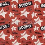 Estrela do basebol Design de padrão vetorial sem costura