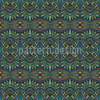 Symmetric Ethno Dream Seamless Pattern