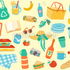 Picnic Party Seamless Vector Pattern Design