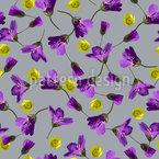 Flores silvestres abstractas Estampado Vectorial Sin Costura