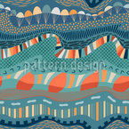 Geological Formation Layers Seamless Vector Pattern Design