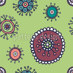 Sweet Flora Green Seamless Vector Pattern Design
