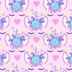Unicorn Princesses Seamless Vector Pattern Design