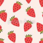 Wild Strawberry Seamless Vector Pattern Design