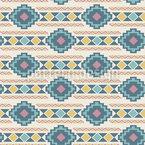 Ethnische Pastellstreifen Rapportiertes Design