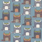 Tabby Cats Repeat Pattern