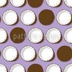 Coco saboroso Design de padrão vetorial sem costura
