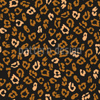 Leopardo minimalista Design de padrão vetorial sem costura
