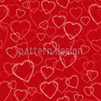 Sketchy Hearts Seamless Vector Pattern Design
