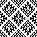 Monochrome Pixelkomposition Nahtloses Vektormuster