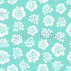Hibiscus In Hawaii Seamless Vector Pattern Design