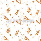 Triangle Flower Seamless Vector Pattern Design