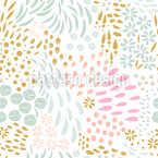 Abstract Botanical Doodles Seamless Vector Pattern Design