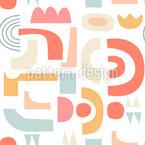 Bunte Formen Und Objekte Nahtloses Vektormuster