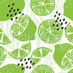 Limão Na Selva Design de padrão vetorial sem costura