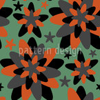 Star Flower Seamless Vector Pattern Design