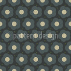 Flower And Dot Seamless Vector Pattern Design