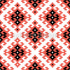 Ethnic Pixel Square Seamless Pattern