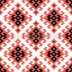 Ethnisches Pixelkaro Nahtloses Muster