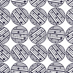 Striped And Dotted Circles Seamless Vector Pattern Design