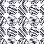 Círculos de rayas y punteados Estampado Vectorial Sin Costura