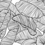 Folhas frescas de banana Design de padrão vetorial sem costura