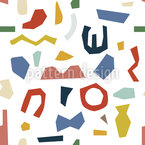 Abstract Shape Composition Seamless Vector Pattern Design