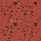 Hearts And Plants Seamless Vector Pattern Design